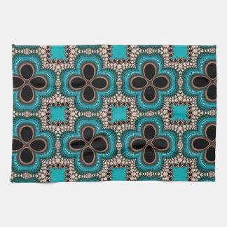 azuis de padrão de trevos toalla de mano