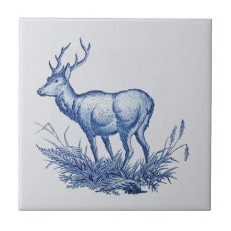 Azul 1876 de la teja de los ciervos w/Antlers del