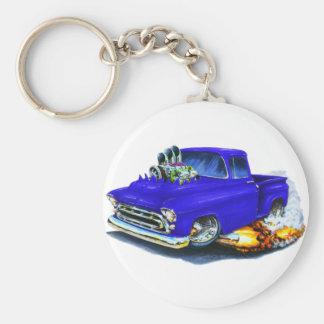 Azul 1957 de la recogida de Chevy Llavero Personalizado