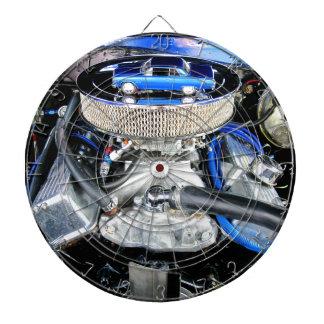 Azul 1965 de Chevy Chevelle Tablero Dardos