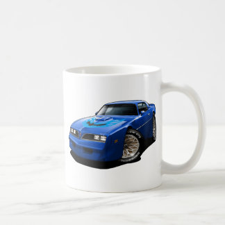 Azul 1977-78 del transporte tazas de café