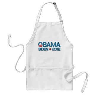 Azul 2012 de Obama Biden Dropshadow Delantal