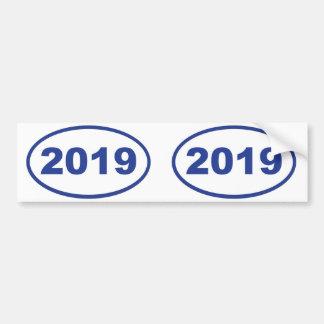 azul 2019 pegatina para auto