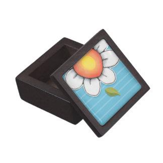 """Azul 2"""" de la alegría de la margarita x 2"""" caja de caja de recuerdo de calidad"""