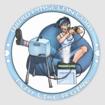 Azul 2 de la caja de Pandora de las etiquetas engo