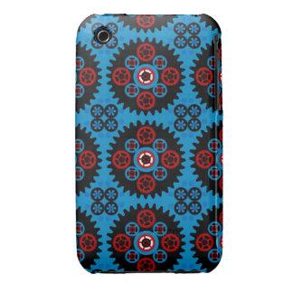 Azul 2 - Modelo del engranaje para el teléfono de Funda Bareyly There Para iPhone 3 De Case-Mate