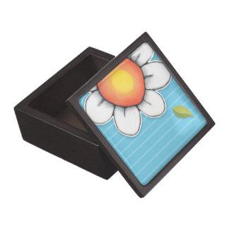 """Azul 3"""" de la alegría de la margarita caja de rega caja de joyas de calidad"""
