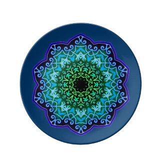 """Azul 8,5"""" de Alhambra placa de China de la Platos De Cerámica"""
