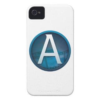 Azul A - Caso de Barely There del iPhone 4 de la iPhone 4 Case-Mate Protector
