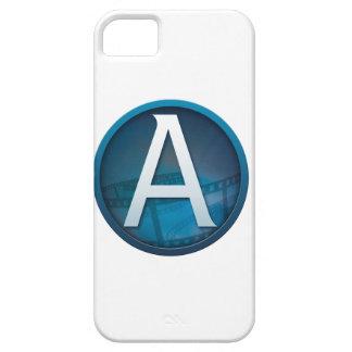 Azul A - Caso de Barely There del iPhone 5 de la c iPhone 5 Funda