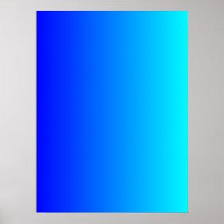 Azul a la pendiente de la aguamarina póster