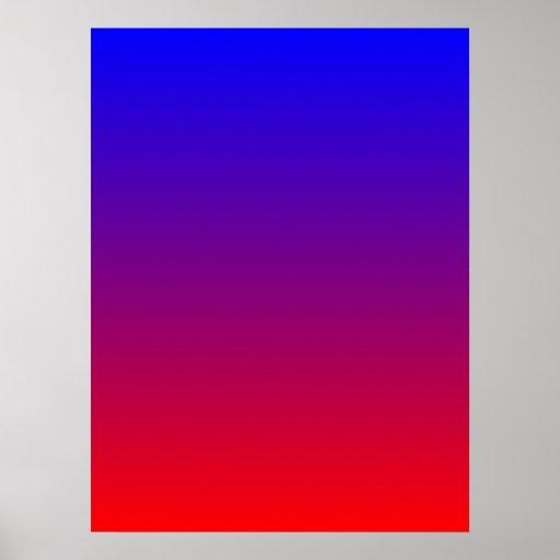 Azul a la pendiente roja póster