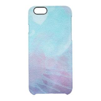 Azul abstracto contemporáneo y púrpura de la funda clearly™ deflector para iPhone 6 de uncommon