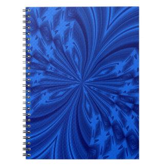 Azul abstracto de la mariposa libro de apuntes con espiral