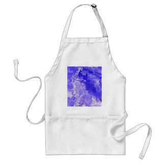 Azul abstracto de la pintura 04 delantal