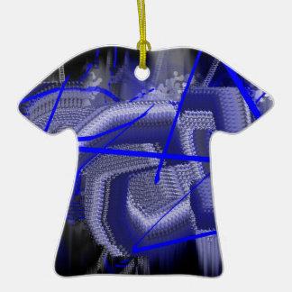 Azul abstracto adorno de navidad