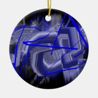 Azul abstracto adornos de navidad