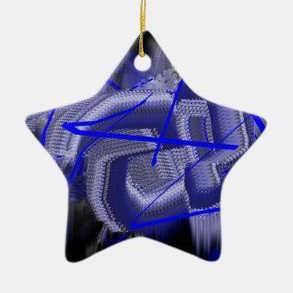 Azul abstracto ornamento de navidad