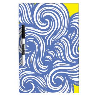 Azul abstracto del amarillo de la expresión de pizarras blancas de calidad