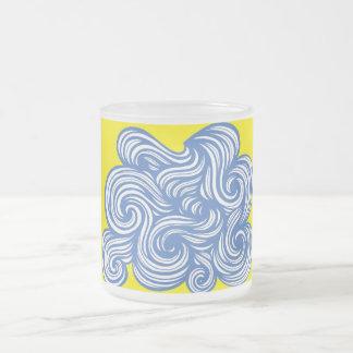Azul abstracto del amarillo de la expresión de