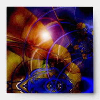 Azul abstracto del arte de la fantasía del sobre