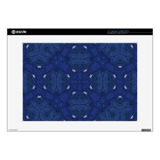 Azul abstracto del modelo calcomanías para 38,1cm portátiles