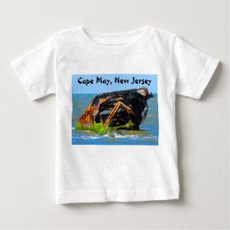 Azul abstracto del naufragio camiseta