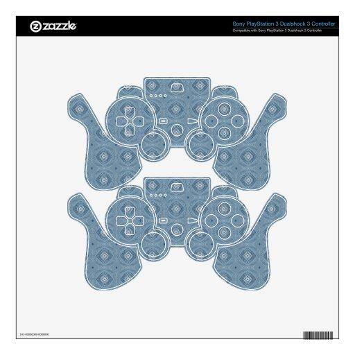 Azul abstracto elegante del diamante mando PS3 calcomanía