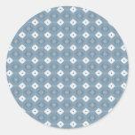Azul abstracto elegante del diamante pegatinas redondas