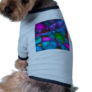 azul abstracto imponente camiseta con mangas para perro