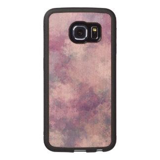 Azul abstracto, lila, mirada de acrílico rosada funda de madera para samsung galaxy s6 edge