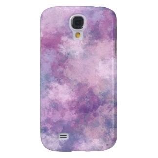 Azul abstracto, lila, pintura de acrílico rosada funda para galaxy s4
