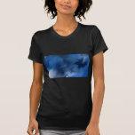 Azul abstracto misterioso camiseta