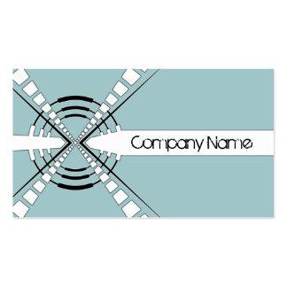 azul abstracto original del diseño del altavoz plantillas de tarjeta de negocio