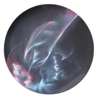 Azul abstracto y púrpura de la nebulosa platos