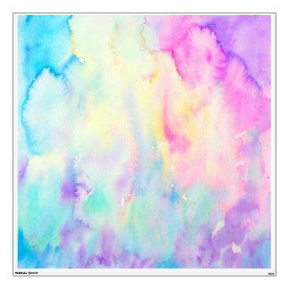 Azul abstracto y púrpura del paisaje de la vinilo adhesivo