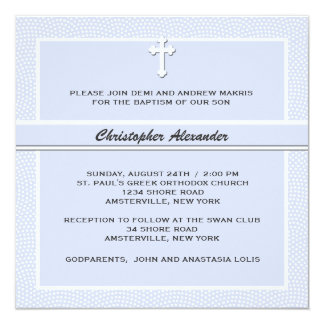 Azul acariciado - invitación religiosa