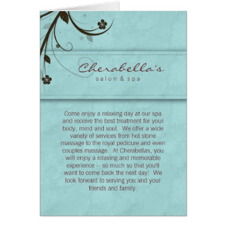 Azul acuoso de la tarjeta de felicitación del