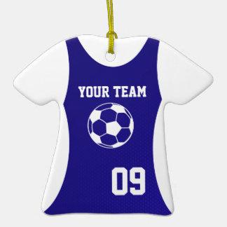 Azul adaptable del jersey de fútbol ornamento para reyes magos