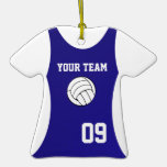 Azul adaptable del jersey del voleibol adorno de navidad