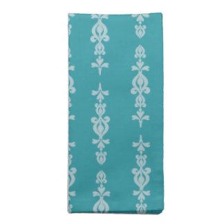 azul adornado del modelo del papel pintado servilletas de papel