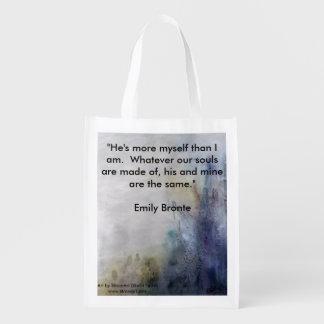 Azul afable con Emily Bronte Bolsas De La Compra