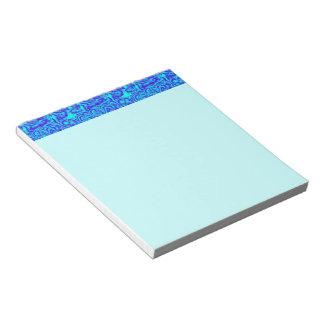 Azul aguado bloc de papel