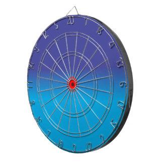 Azul/aguamarina con rojo > tablero de dardo de enc