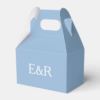 Azul airoso con el detalle blanco del boda caja para regalo de boda