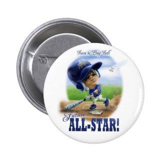 Azul All-star futuro Pin Redondo De 2 Pulgadas