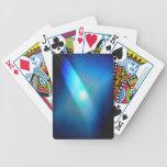 Azul allí a la vista barajas de cartas