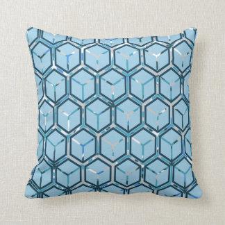 Azul/almohada de tiro gris del modelo del panal