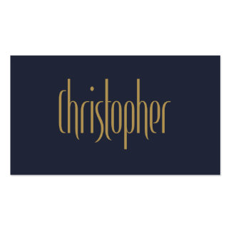 Azul alto personalizado Christopher del oro de la Tarjetas De Visita