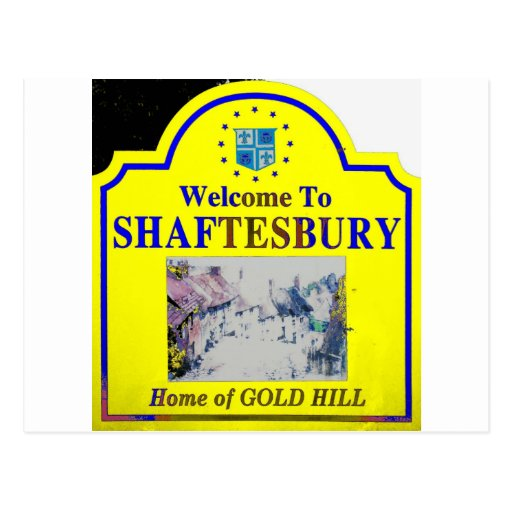 Azul amarillo de Shaftesbury Postal